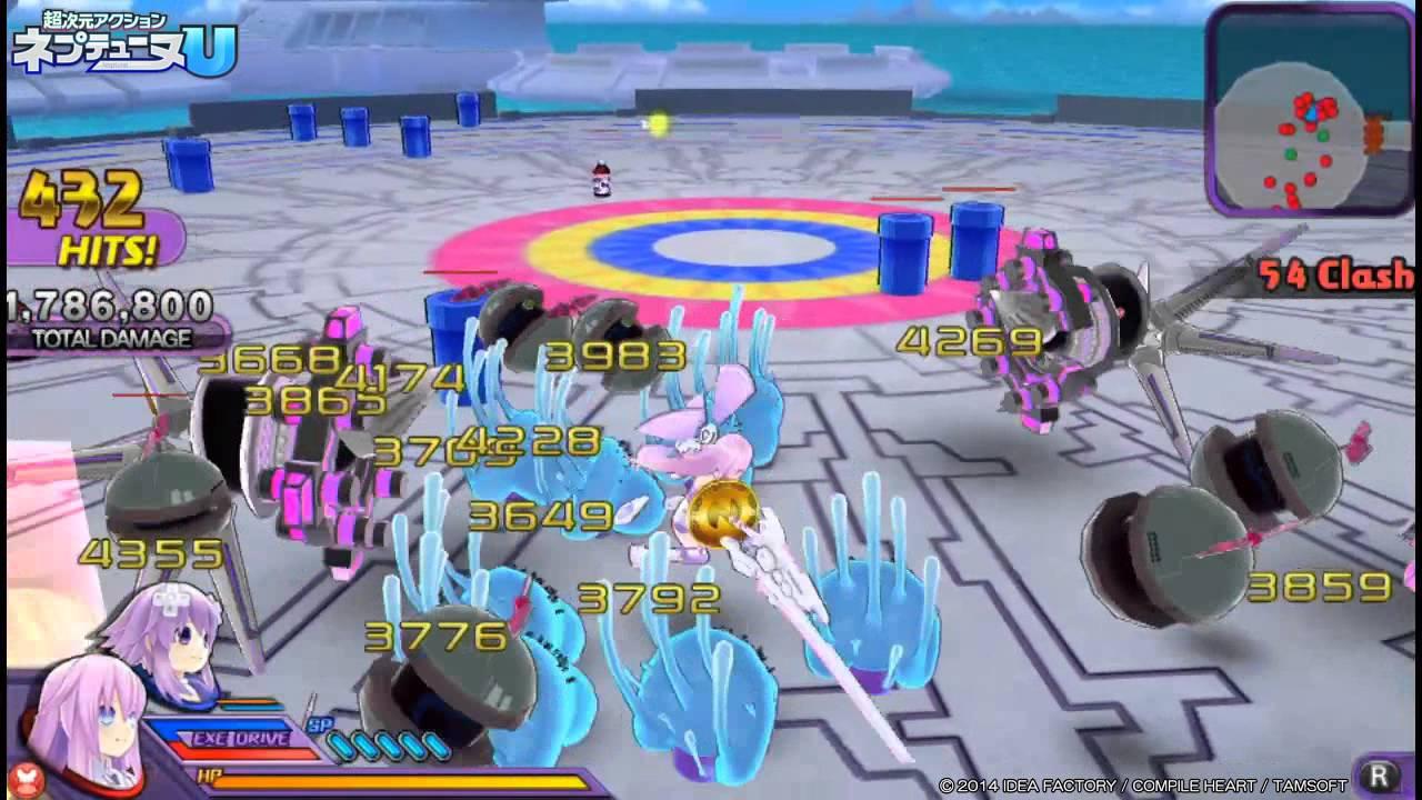 『超次元アクション ネプテューヌU』女神候補生4人と「デンゲキコ」&「ファミ通」プレイ動画が公開