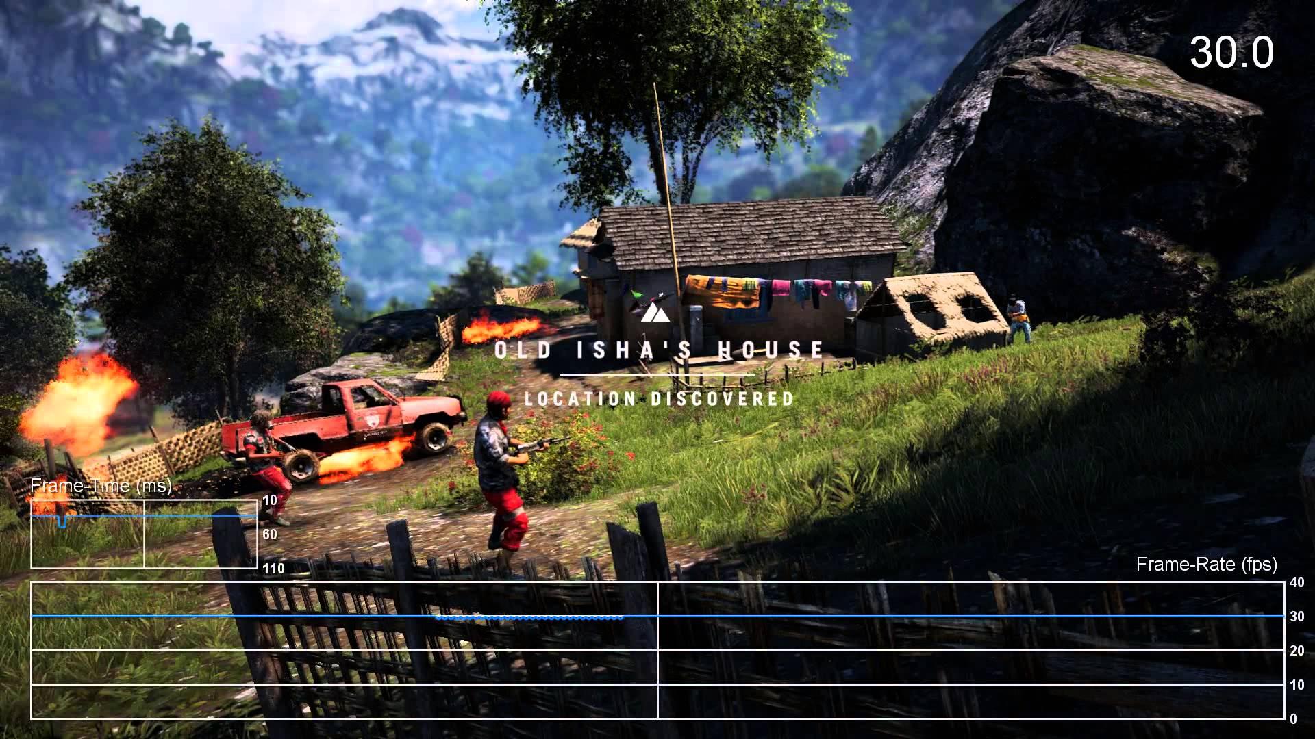 安心の安定感!『ファークライ4』PS4版フレームレートテスト映像が公開。ほぼ30fpsをキープ