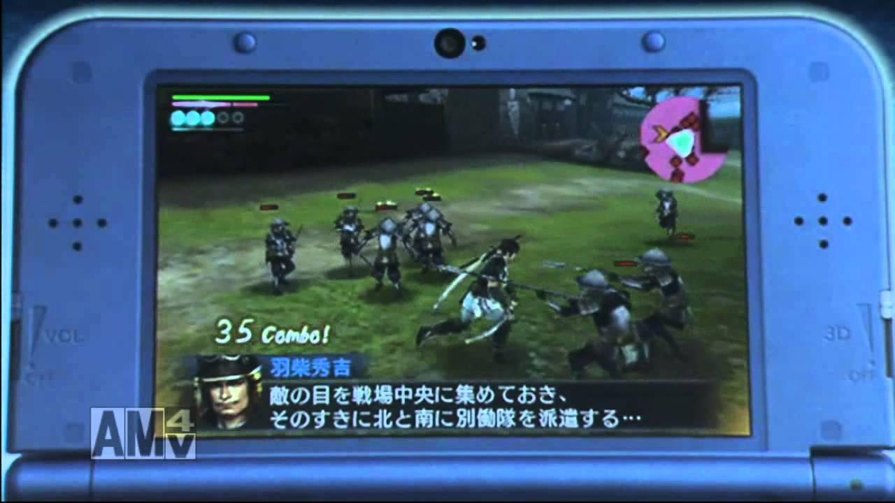 3DS版『戦国無双クロニクル3』藤堂高虎役の松風雅也さんによるNewニンテンドー3DS実機プレイが披露