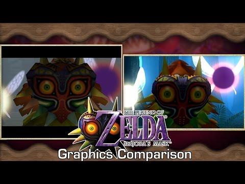 『ゼルダの伝説 ムジュラの仮面3D』N64版とのグラフィック比較動画をGameSpotが公開