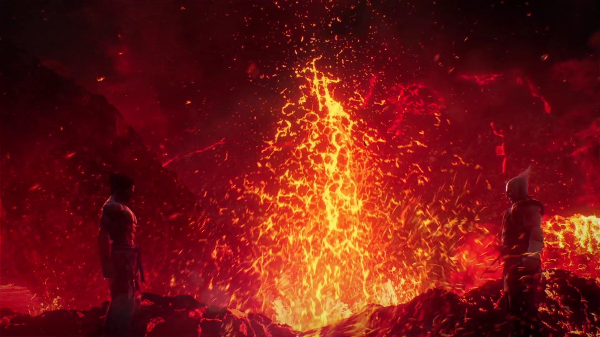 『鉄拳7』火口付近で一八と平八がバトル!オープニングムービー公開